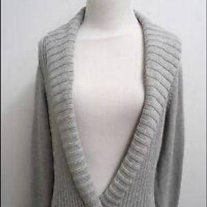 Grey banana republic wrap sweater